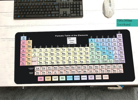 table of the elements mousepad gamer big 700x300x3mm gaming mouse pad large 3d notebook pc accessories padmouse ergonomic mat