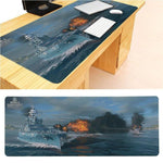 MaiYaCa  Warship Large Mouse pad PC Computer mat Size for 30x90x0.2cm Gaming Mousepads