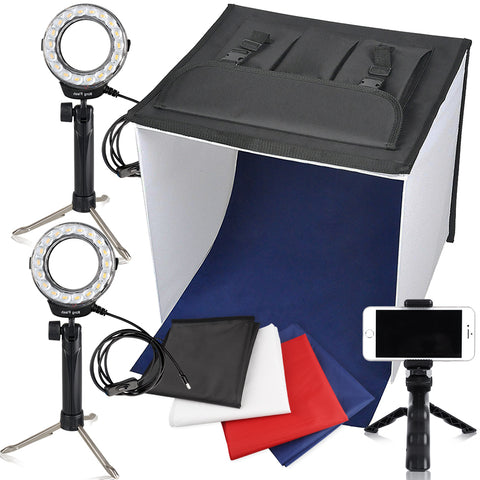 "Travor 16"" x 16"" Table Top Cell Phone Photo Studio 