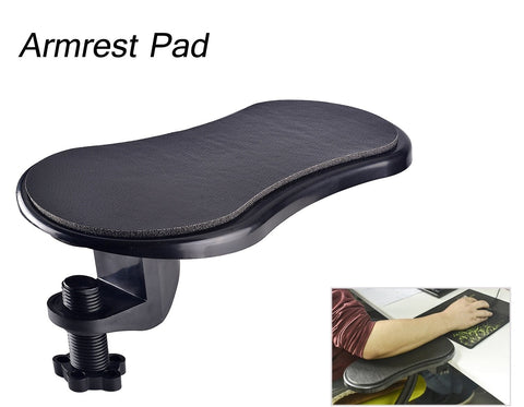 Ergonomic Adjustable PC Wrist Rest Pad Extender Attachable to Table Home Office Arm Support