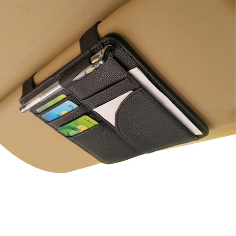 Car Sun Visor Storage Organizer Card Holder