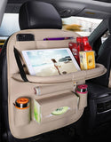 Car Organizer Storage | Folding Tray Table Back Seat Storage | Great for Travel