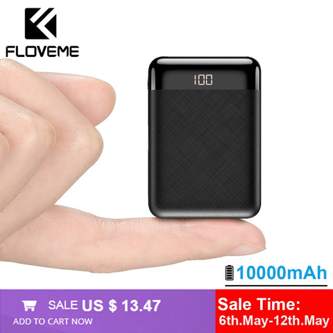 Mini PowerBank 10000mAh | portable external battery pack charger