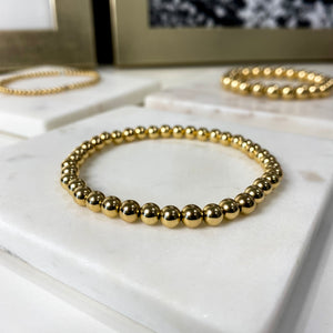 14K Gold Filled Medium Bubble Bracelet