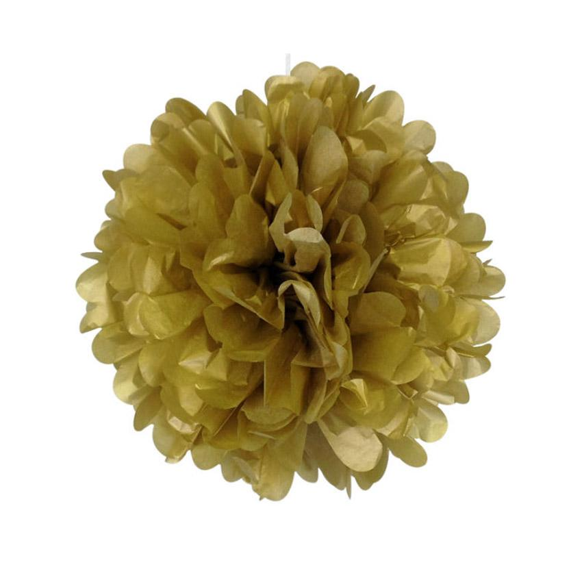 Pom Pom Decoration - Gold