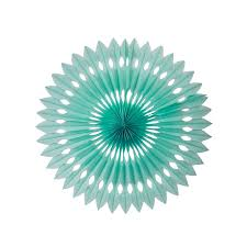Decorative Fan - Mint Green 24cm