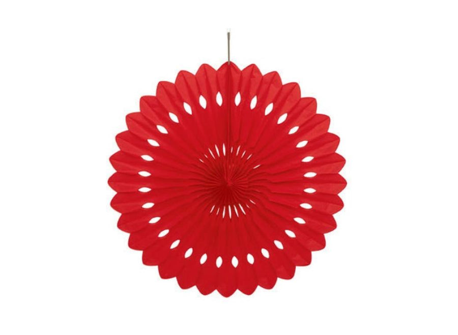 Decorative Fan - Red 24cm