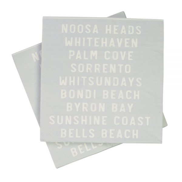 Australian Beaches Napkins (Pack of 20)