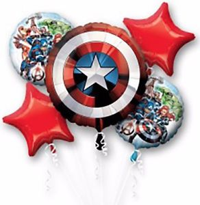 The Avengers Shield Foil Balloon Bouquet