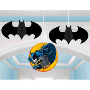 Batman Honeycomb Decorations (Pack of 3)