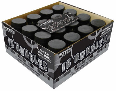 Party Bubbles - Black (Pack of 16)
