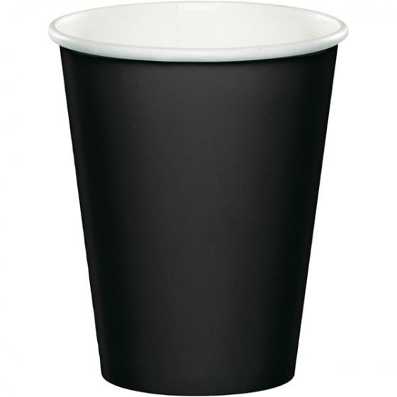 Black Paper Party Cups (Pack of 8)