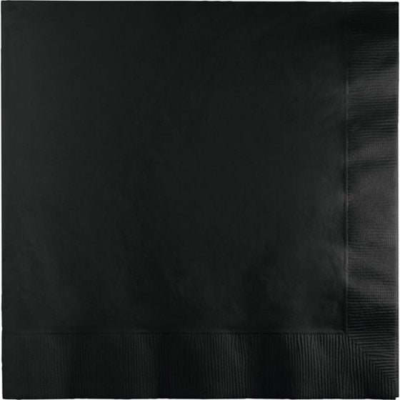 Black Lunch Napkins (Pack of 20)