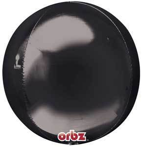 "Orbz 16"" Black Balloon"