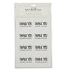 Black Party Thank You Rectangle Sticker Seals (Pack of 16)