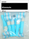 Blowouts - Powder Blue Stripes & Chevron (Pack of 10)