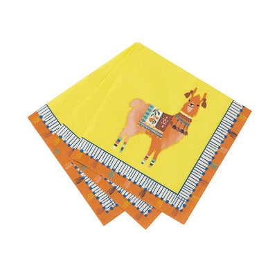 Boho Llama Party Cocktail Napkins (Pack of 20)
