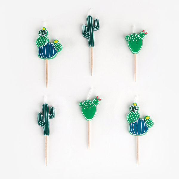 Cactus Party Candles (Pack of 6)