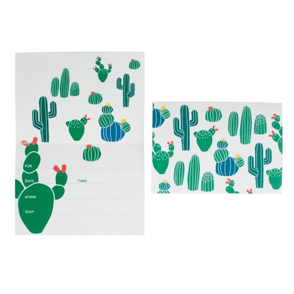 Cactus Party Invitations (Pack of 8)