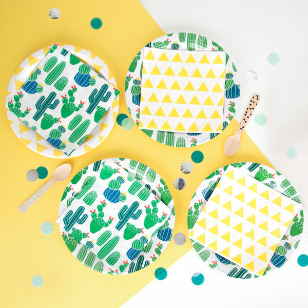 Cactus Party Plates (Pack of 8)