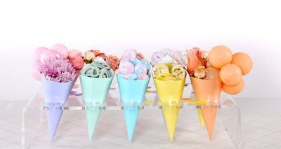 Pastel Yellow Snack Cones (Pack of 10)