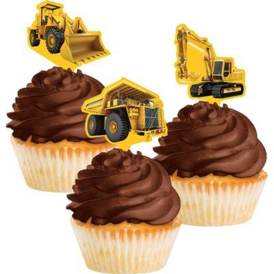 Construction Party Cupcake Toppers (Pack of 12)