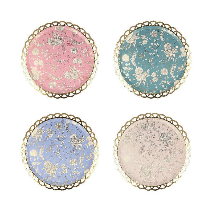 English Garden Lace Side Plates (Pack of 8)