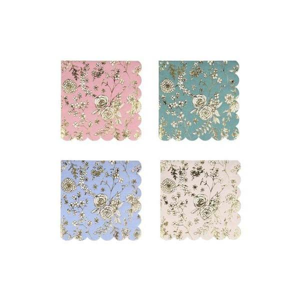 English Lace Garden Small Napkins (Pack of 16)