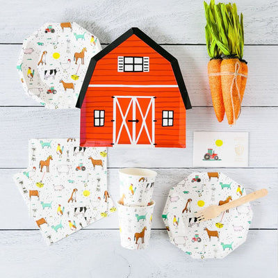 On The Farm Large Plates (Pack of 8)