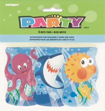 Fin Friends Note Pad Party Favours (Pack of 6)
