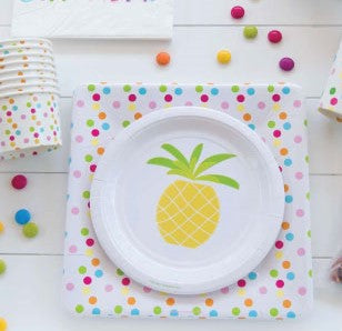 Pineapple Cake Plates (Pack of 12)