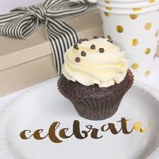 Gold Foil Celebrate Cake Plates (Pack of 12)