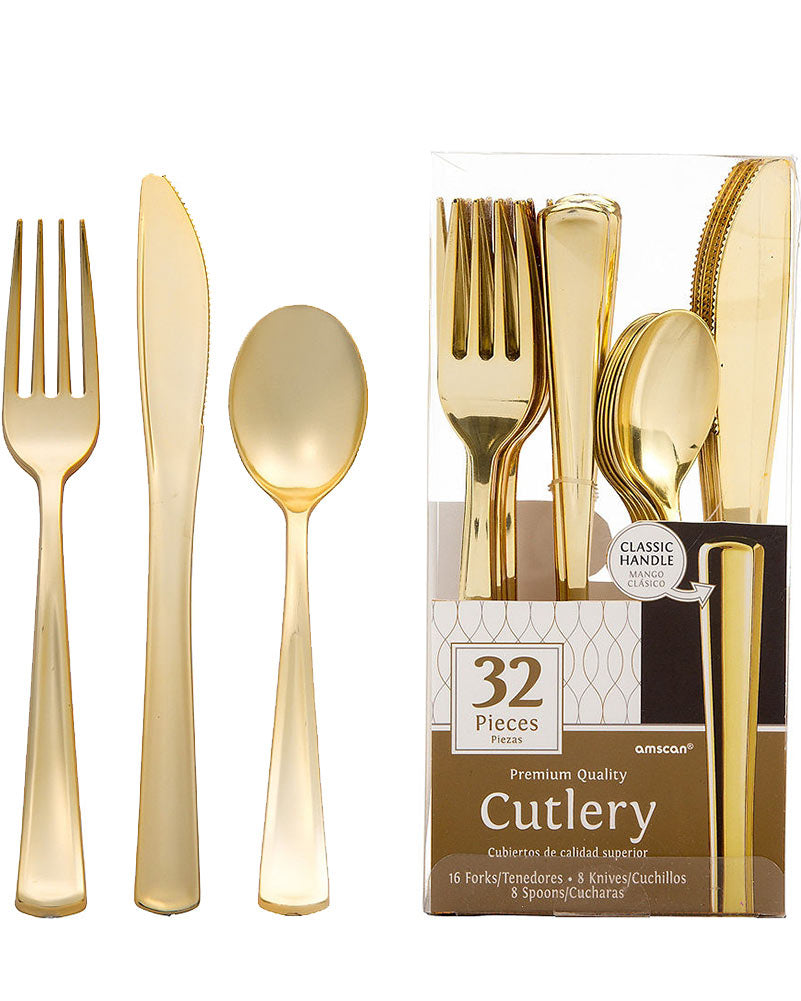 Gold Premium Cutlery Set (Pack of 32)