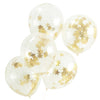 Gold Glitter Star Confetti Balloons (Pack of 5)