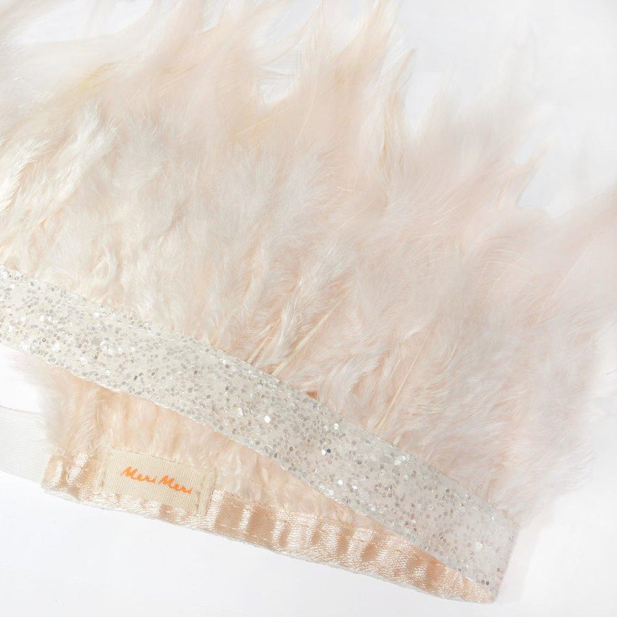 Blush Pink Feather Party Crown
