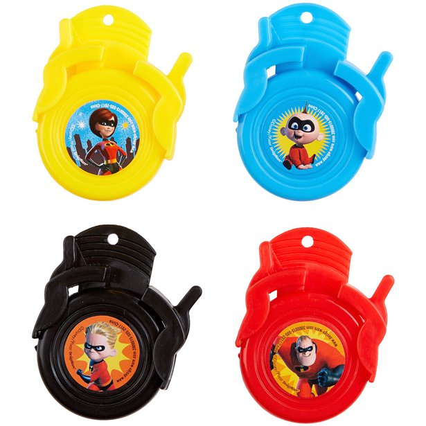 Incredibles 2 Shooter Mini Discs Party Favours (Pack of 12)