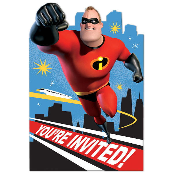 Incredibles 2 Party Invitations (Pack of 8)