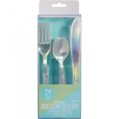Iridescent Cutlery Set (Pack of 24)