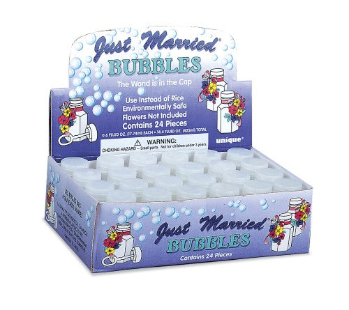 Just Married Bubbles (Pack of 24)