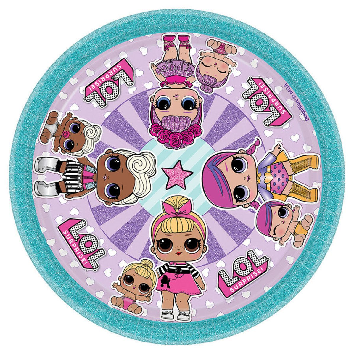 Lol Surprise Dolls Cake Plates Pack Of 8 Kura Freya Party Couture