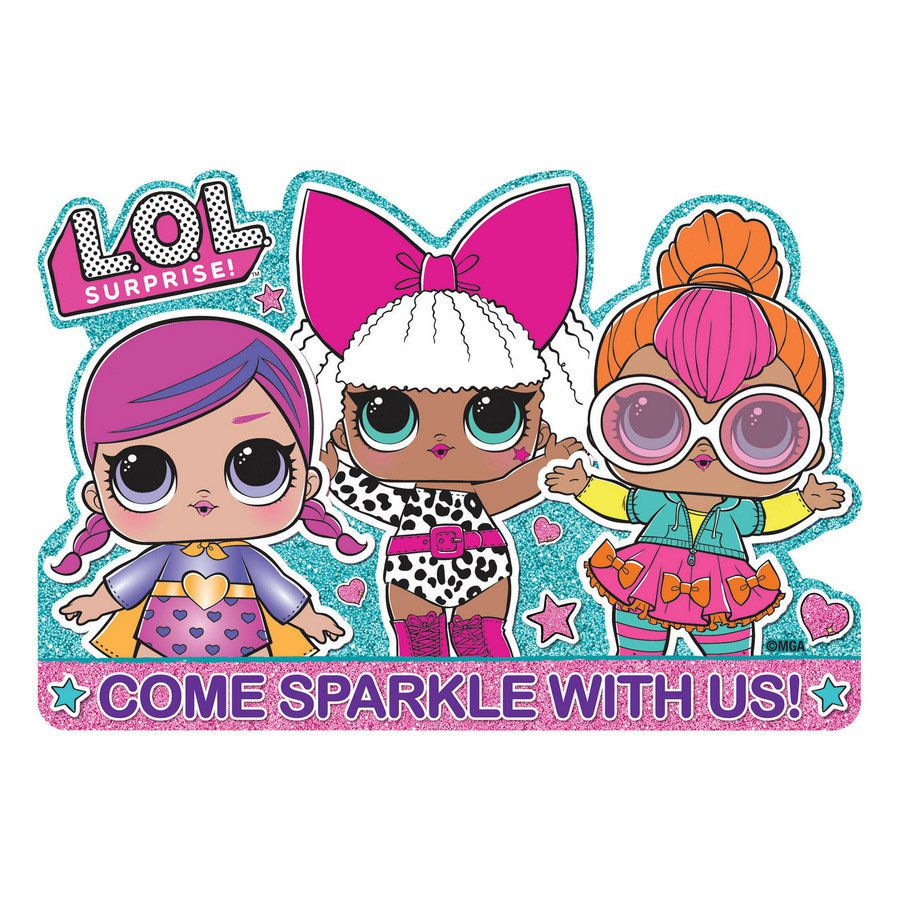 Lol Surprise Dolls Party Invitations Pack Of 8 Kf Party Couture