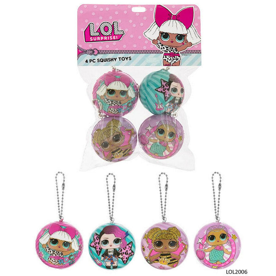 LOL Surprise Dolls Squishy Toy Party Favours (Pack of 4)