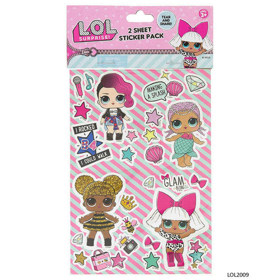 LOL Surprise Dolls Sticker Party Favours (8 Stickers)