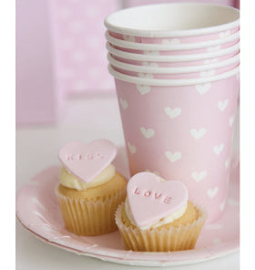 Pink Sweetheart Cake Plates (Pack of 12)