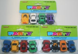Mini Die Cast Sports Car Party Favours (Pack of 4)