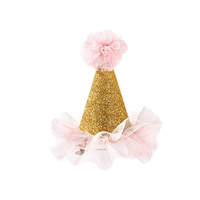 We ❤ Pink Mini Clip On Party Hat