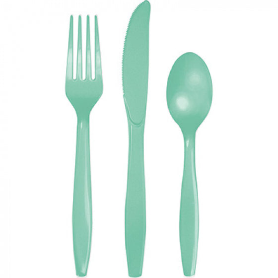 Mint Green Cutlery Set (Pack of 18)