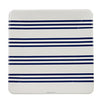 Navy French Stripe Plates (Pack of 12)