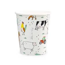 On The Farm Cups (Pack of 8)