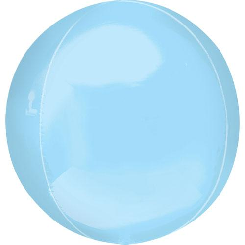 "Orbz 16"" Pastel Blue Balloon"